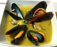 CREMA DI PATATE E COZZE AL CURRY