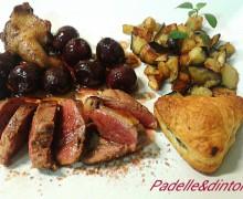 TAGLIATA DI PICCIONE ALLE CILIEGIE ( rielaborata da un idea dello chef della locanda Martinelli di Nibbiaia)
