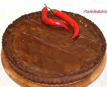 crostata cioccolato e ganache fondente al peperoncino