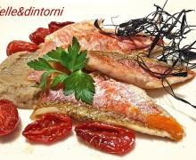TRIGLIE DI SCOGLIO SU CREMA DI MELANZANE (ricetta dello Chef Corrado Scaglione)